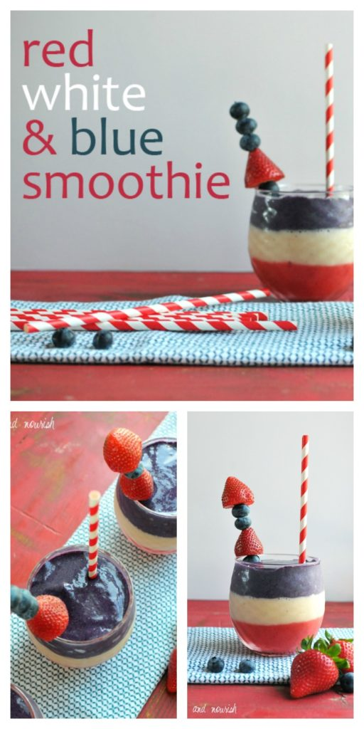 Red, White, & Blue Berry Banana Smoothie