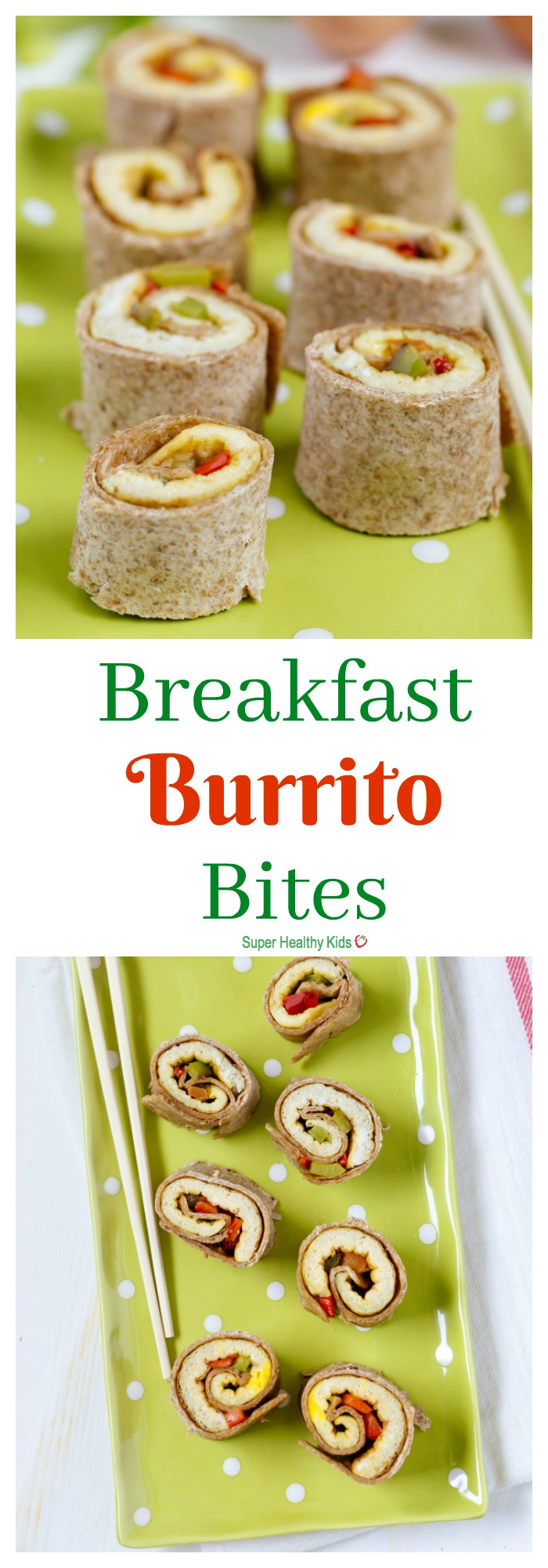 FOOD - Breakfast Burrito Bites. With bell peppers, eggs, and whole wheat tortillas, these burrito bites are the perfect breakfast for your kids. http://www.superhealthykids.com/finger-food-breakfast-burrito-bites/