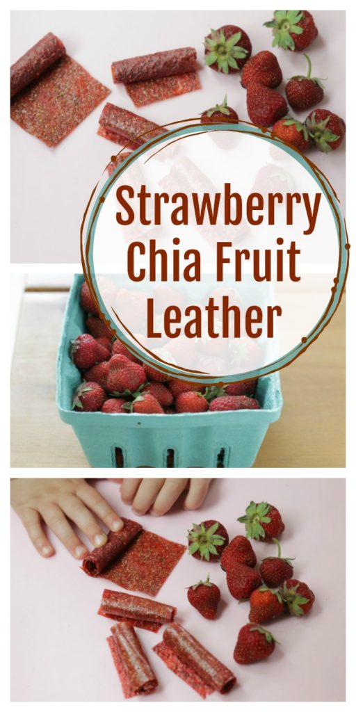 Super Yummy Strawberry Chia Fruit Leather