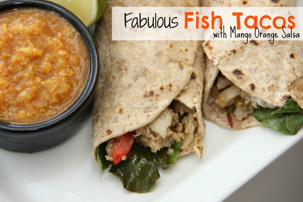 Fabulous Fish Tacos. Packs all the food groups into one dish. Great for lunch or dinner! Recipe winner! www.superhealthykids.com