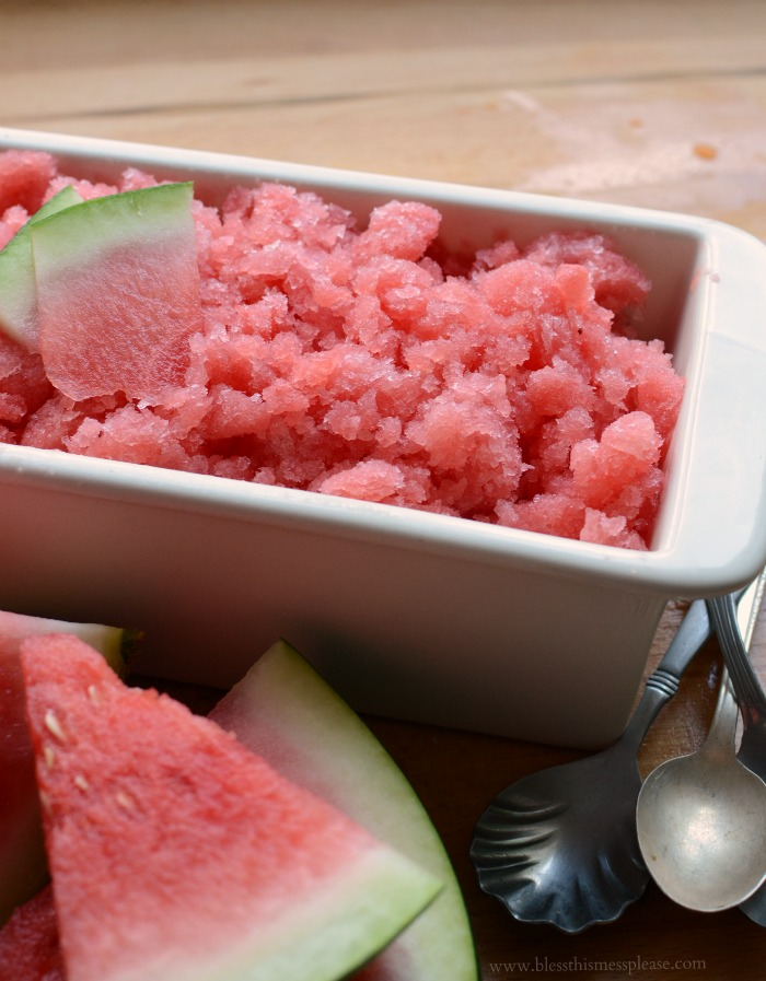 Quick and Easy 3 ingredient Juicy Watermelon Slush - no ice cream machine needed!