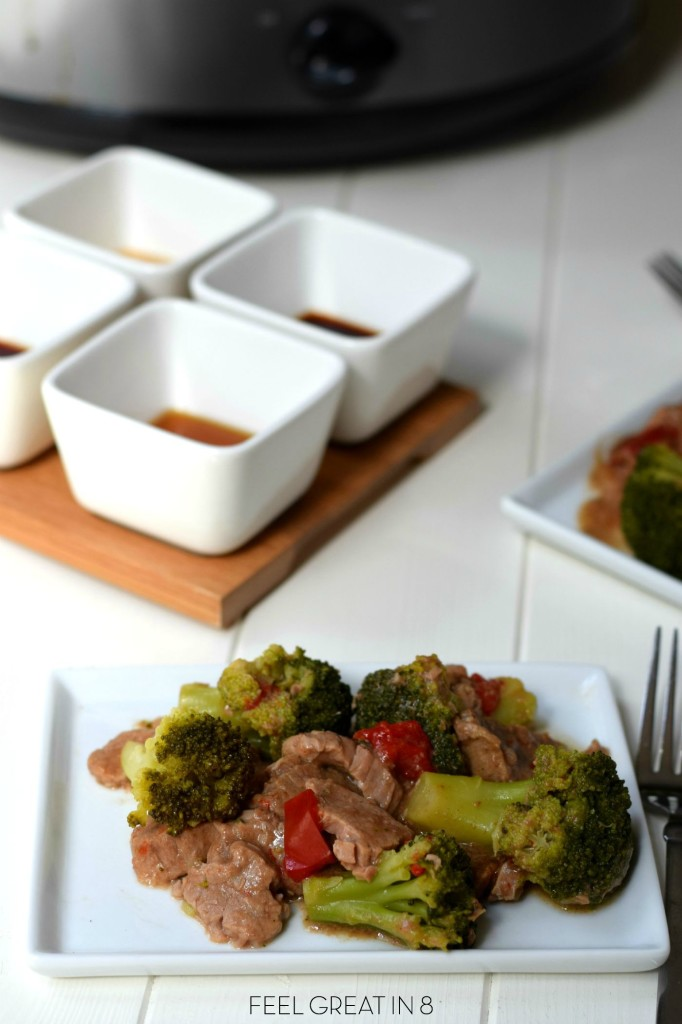 Slow Cooker Beef and Broccoli.  Perfect meal after a busy day of work, school, and activities! www.superhealthykids.com