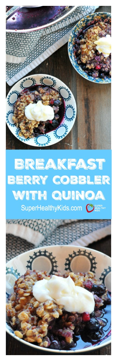 Breakfast Blueberry Cobbler. Definitely a recipe to pin for those cold mornings when you need something warm and comforting.