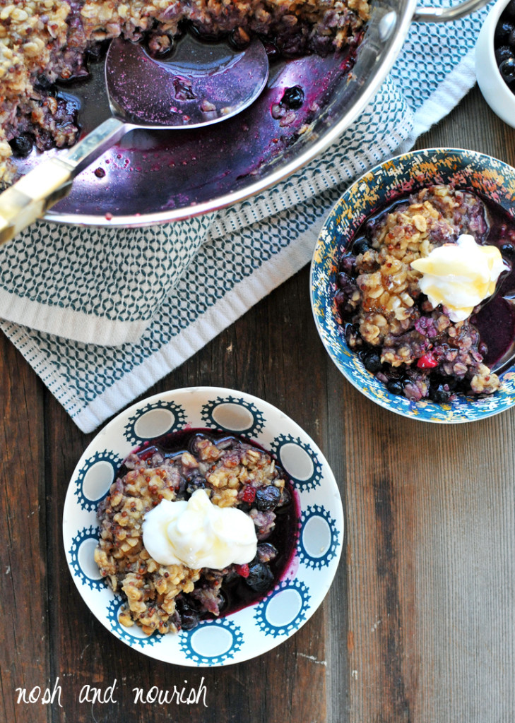 breakfast berry cobbler with quinoa