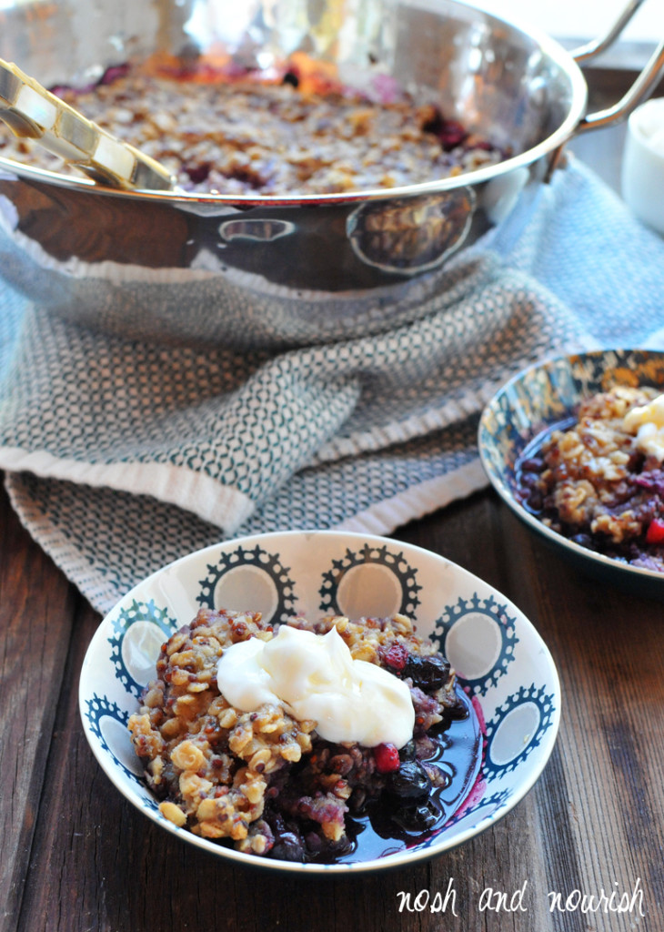 Breakfast Blueberry Cobbler. Definitely a recipe to pin for those cold mornings when you need something warm and comforting. www.superhealthykids.com