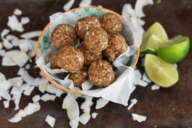 Coconut Lime Energy Bites - Allergen friendly and full of flavor! www.superhealthykids.com