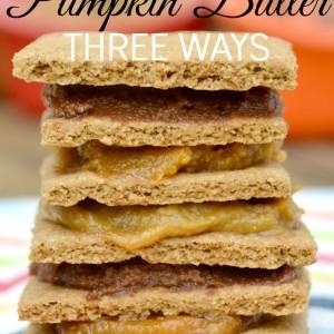 Honey Sweetened Pumpkin Butter Three Ways