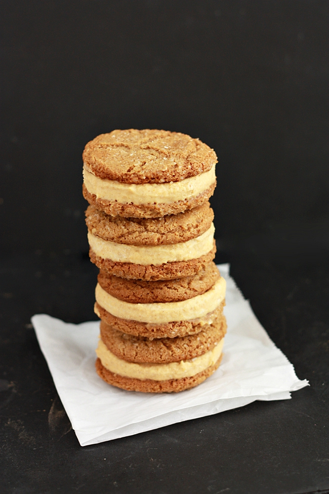 Pumpkin Ice Cream Sandwiches. You'll LOVE these ice cream sandwiches! Vegan pumpkin mousse sandwiched between the perfect ginger cookies.