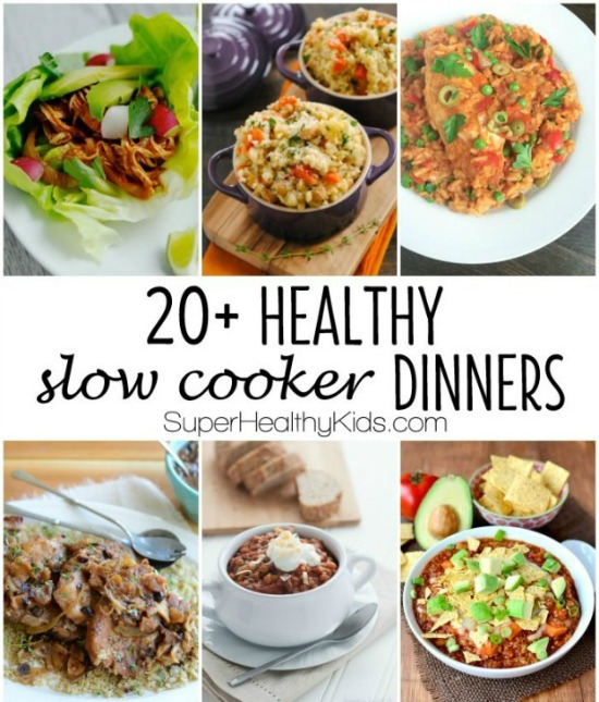 20 + Healthy Slow Cooker Dinners. No Cream Soups Allowed! Just Good,  Wholesome
