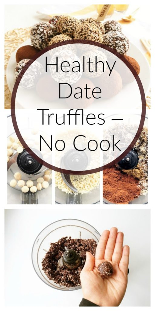 Healthy Date Truffles – No Cook