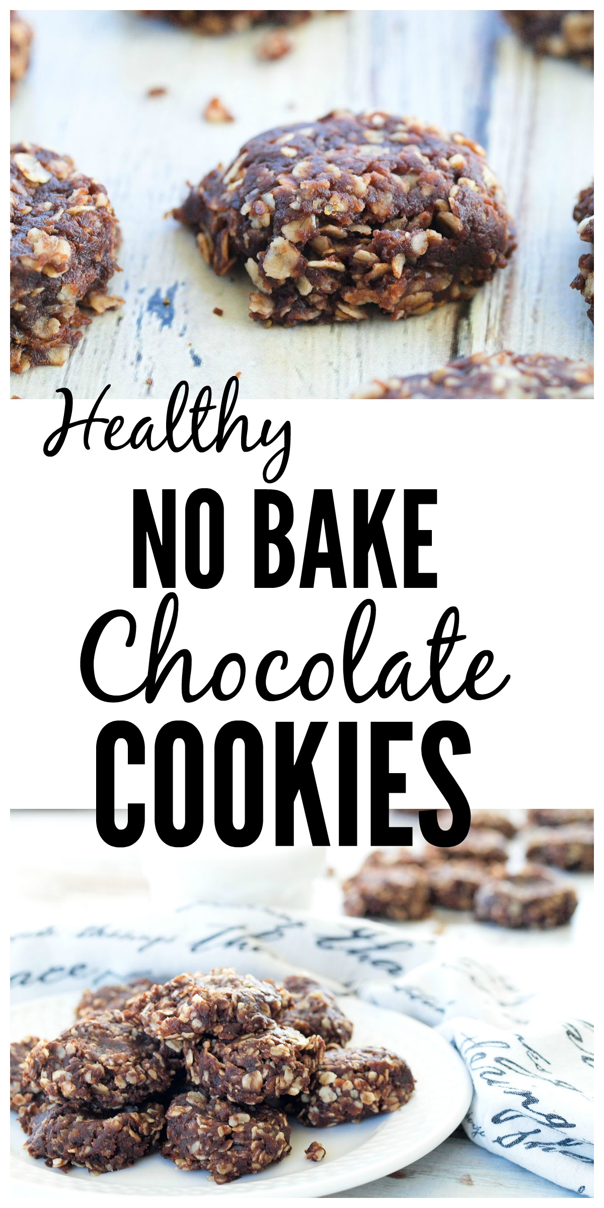 Healthy No Bake Chocolate Cookies Twist On A Classic Chocolate No Bake Cookie