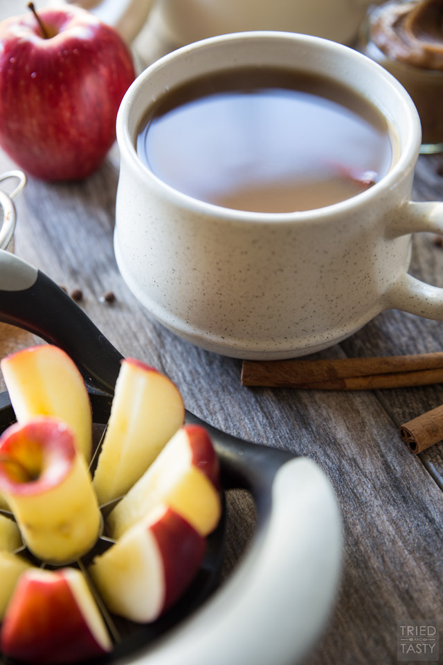 Caramel Apple Cider. You won't want to miss this delicious recipe for the holidays. A sweet comforting mug of wonderful deliciousness!