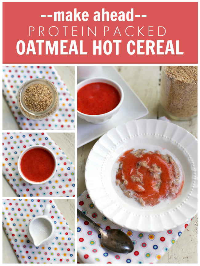 This Protein Packed Oatmeal Hot Cereal is a delicious and filling make-ahead breakfast. Perfect for busy school mornings! (Gluten free & Vegan)
