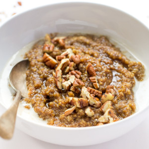 90-second Gingerbread Breakfast Quinoa