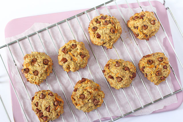 Carrot Apple Oat Breakfast Cookies