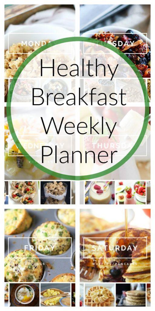 Pianificatore settimanale sana colazione