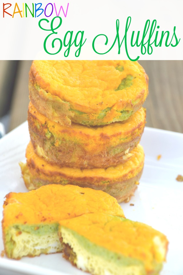 FOOD - Rainbow Egg Muffins. These are super filling, packed with nutrition and fun for kids to eat! http://www.superhealthykids.com/rainbow-egg-muffins/