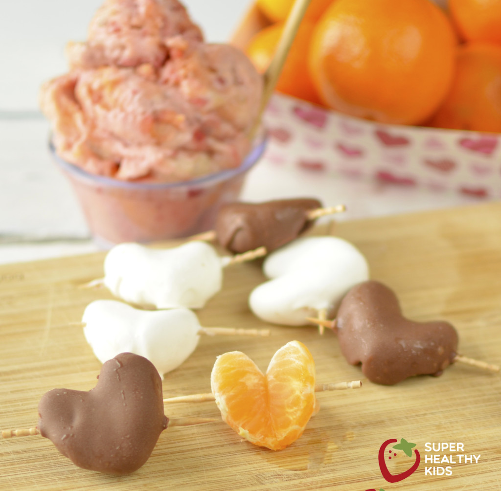 Teach Kids to Choose Fruit for Dessert- like Cuties. Valentines cutie chocolate covered oranges Healthy dessert for kids, made with fruit!