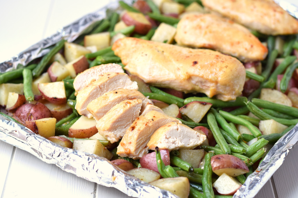 One pan honey garlic chicken and vegetables healthy ideas for kids one pan honey garlic chicken and vegetables forumfinder Image collections