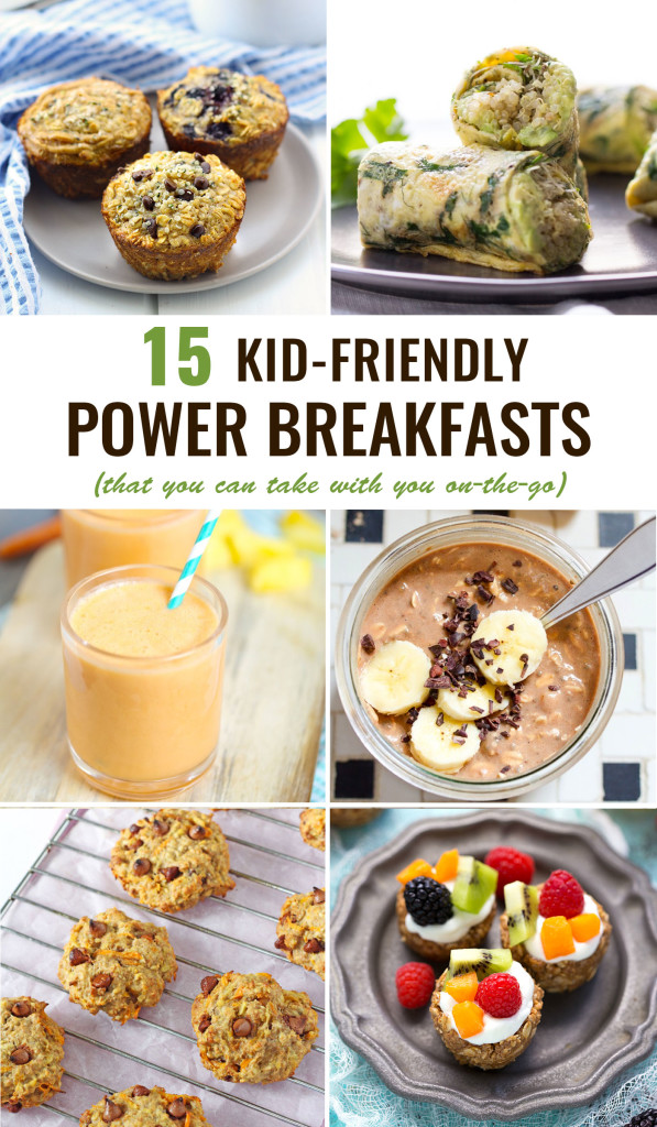 FOOD - Kid-Friendly Power Breakfasts To Go. The 15 BEST power breakfasts for kids -- healthy, delicious and the best part is they're PORTABLE! http://www.superhealthykids.com/kid-friendly-power-breakfasts-go/