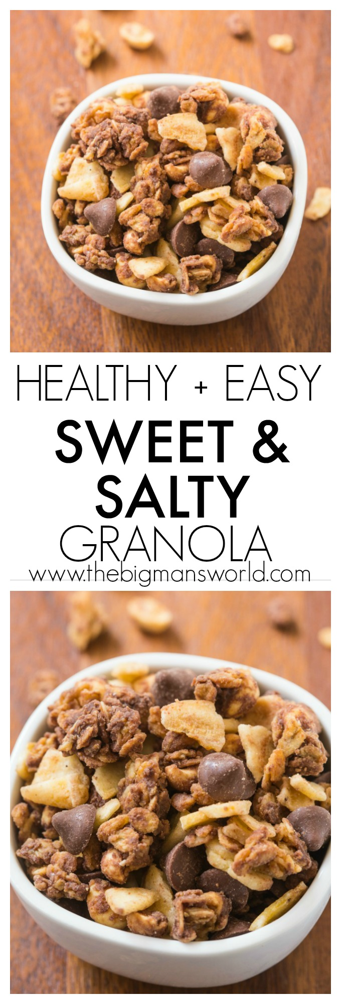Sweet and Salty Trail Mix Granola - the perfect hiking snack for your kids! www.superhealthykids.com