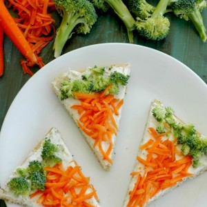 Veggie Flatbread Pizza Recipe