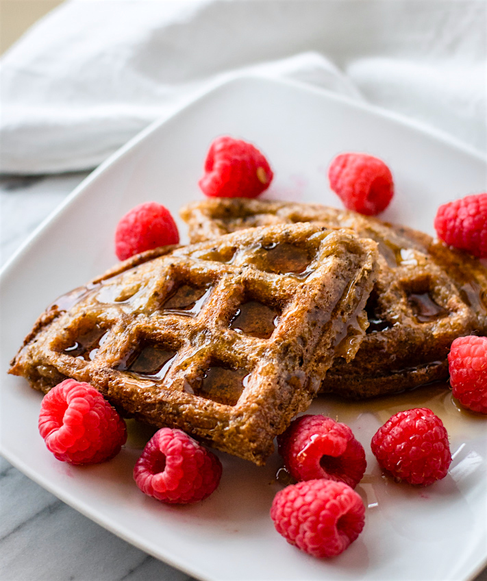 Chocolate Banana Rice Waffles