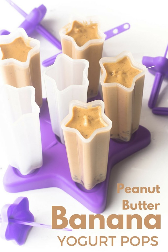 Peanut Butter Banana Yogurt Popsicles are a healthy way to cool down this summer! Rich, creamy and the perfect healthy treat for your sweet tooth! www.superhealthykids.com