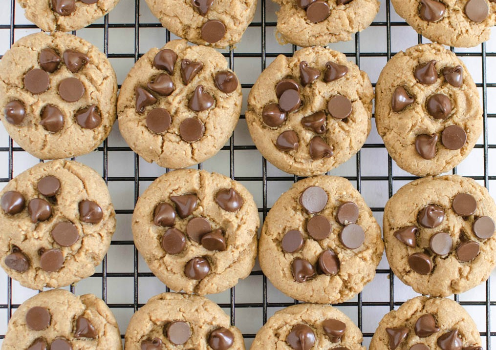 Peanut Butter Chocolate Chip Cookies. These delicious and healthy cookies are made with wholesome ingredients.
