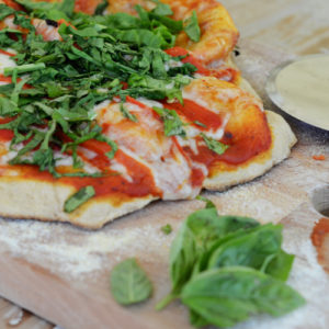 Summer Veggie Grilled Pizza with Whole Grain Crust