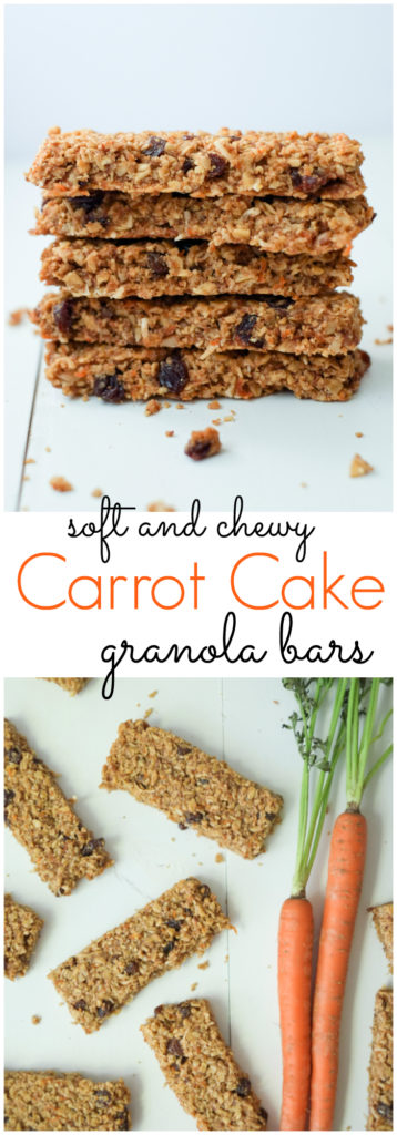 FOOD - Healthy Carrot Cake Granola Bars. We love these healthy, soft carrot cake granola bars - they're tasty and include a vegetable! High in protein and fiber, this snack will keep you full! http://www.superhealthykids.com/healthy-carrot-cake-granola-bars-recipe/