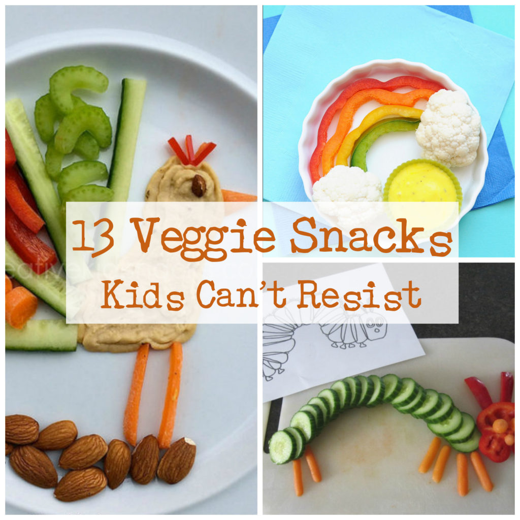 Here are 11 fun and healthy snacks that will have your children eating their fruits and vegetables in no time. They may look like colorful versions of corn-chip nachos, but these all-vegetable nachos will have your kids eating bell peppers, cucumbers, tomatoes, and avocado.