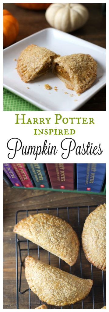 Harry Potter Inspired Pumpkin Pasties. We love these pumpkin pasties, inspired by the Harry Potter series! These delicious hand pies have a sweet pumpkin filling with a crispy, flaky crust. http://www.superhealthykids.com/harry-potter-inspired-pumpkin-pasties-recipe/