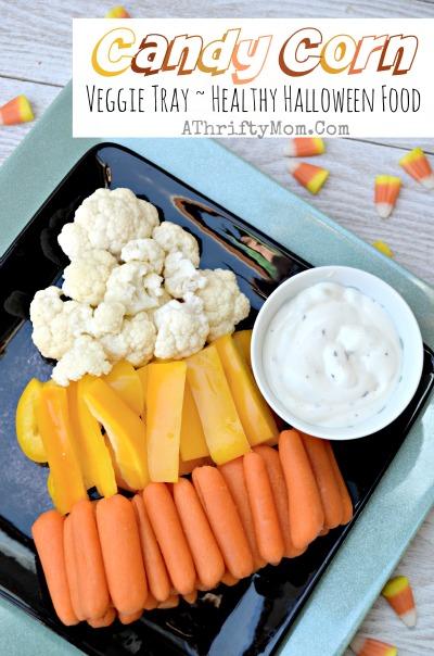 candy corn veggie tray - Healthy Fun Halloween Snacks