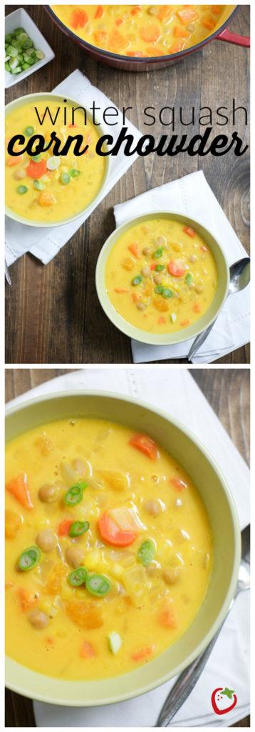 FOOD - Winter Squash Corn Chowder | Super Healthy Kids | Food & Drink http://www.superhealthykids.com/winter-squash-corn-chowder-recipe/