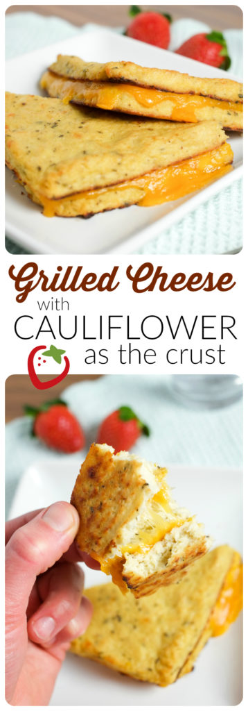 FOOD - Grilled Cheese with Cauliflower Bread | Super Healthy Kids | Food and Drink http://www.superhealthykids.com/grilled-cheese-cauliflower-crust/