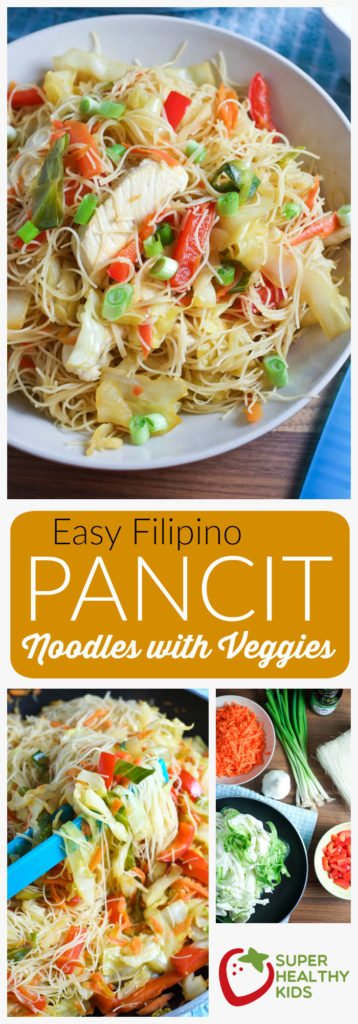 FOOD - Easy Pancit Noodles and Veggies | Super Healthy Kids | Food and Drink http://www.superhealthykids.com/easy-pancit-noodles-veggies/