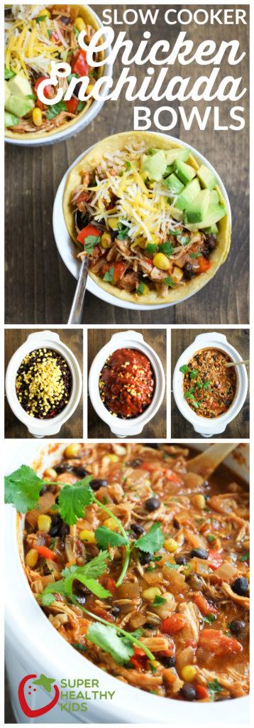 FOOD - Slow Cooker Chicken Enchilada Bowls | Super Healthy Kids | Food and Drink https://www.superhealthykids.com/slow-cooker-chic…ada-bowls-recipe/