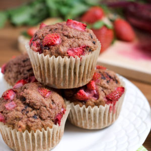 Whole Wheat Strawberry Beet Muffins Recipe