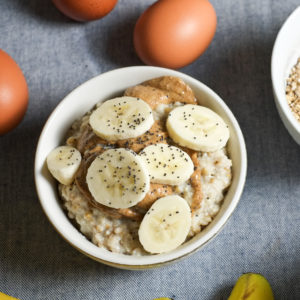 Instant Pot Steel Cut Oatmeal (with eggs)