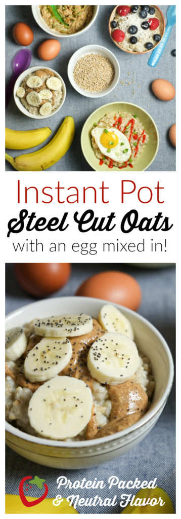FOOD - Oatmeal in the Instant Pot | Protein Packed Breakfast | Super Healthy Kids | Food and Drink http://www.superhealthykids.com/instant-pot-steel-cut-oatmeal-with-eggs/