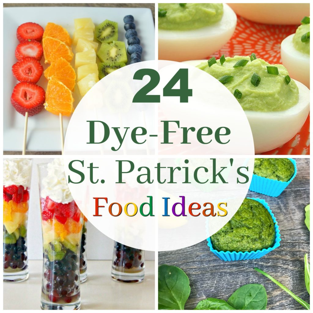 Healthy Holidays- 24 ideas for dye-free st. patrick's day food