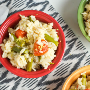 Cheesy Instant Pot Risotto with Spring Veggies Recipe