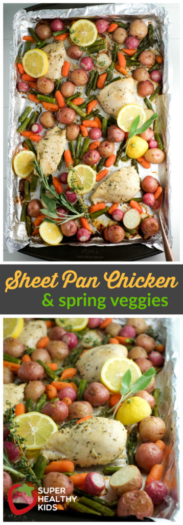 Sheet pan chicken with spring veggies recipe healthy ideas for kids sheet pan chicken and spring veggies recipe super healthy kids food and drink forumfinder Images