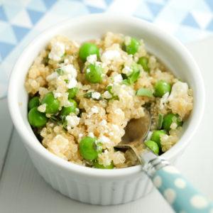 Quinoa with Fresh Peas Recipe