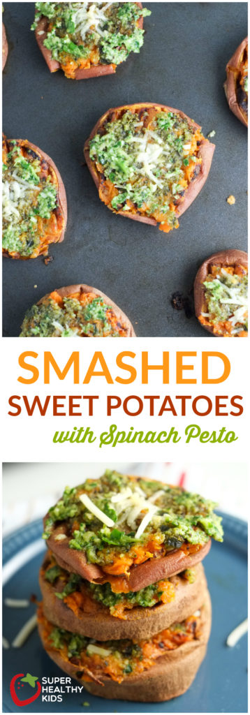 Smashed Sweet Potatoes with Spinach Pesto | Super Healthy Kids | Food and Drink