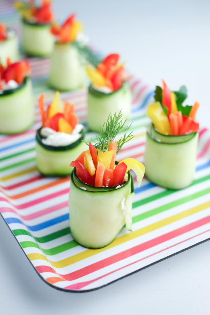 Fresh Cucumber Roll-ups! | Super Healthy Kids | Food and Drink | Kids Party Food