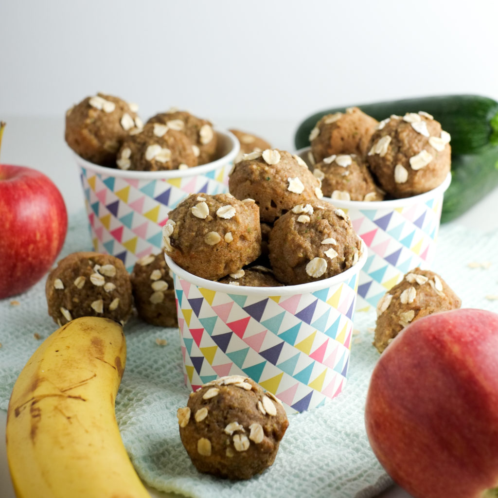 Fruit and Veggie Muffin Bites Recipe   Super Healthy Kids   Road Trip Snacks   Food and Drink