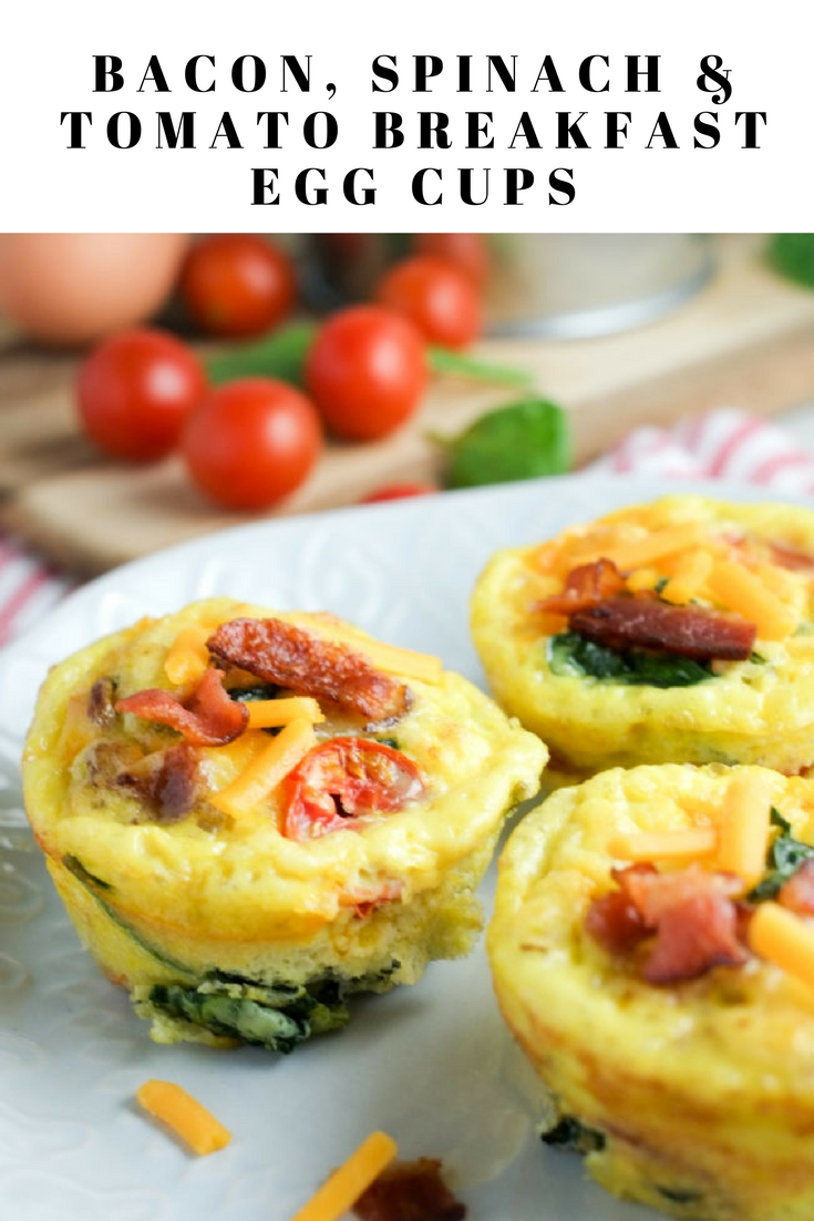 Bacon, Spinach & Tomato Breakfast Egg Cups Recipe