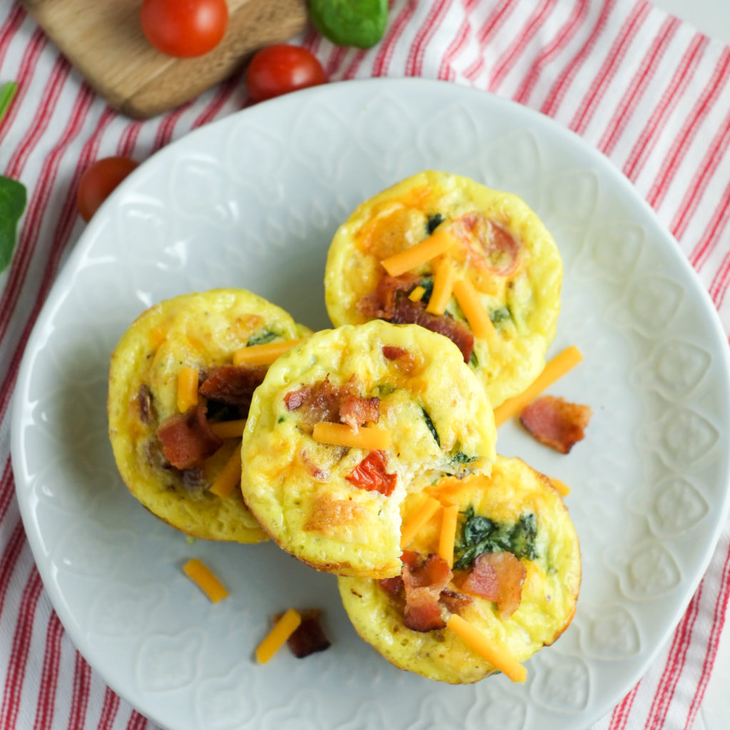 Bacon Spinach Amp Tomato Breakfast Egg Cups Recipe